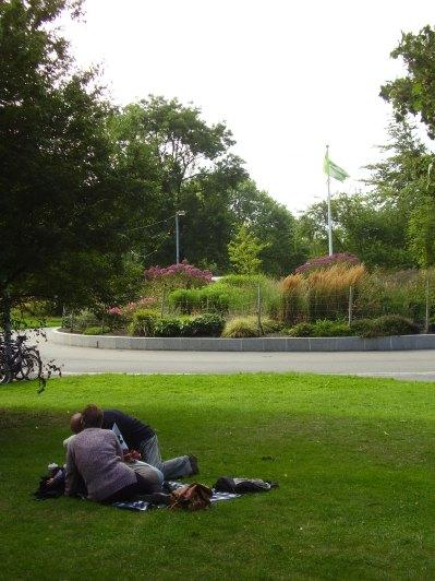 Resting near the circle