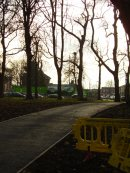 New path to Heald Place gate