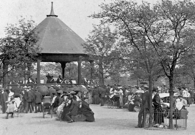 Bandstand and enclosure