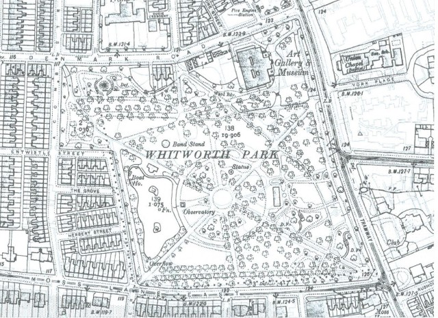 1907 layout of Park